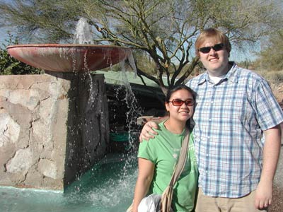 Bob and Jen at Taliesin West