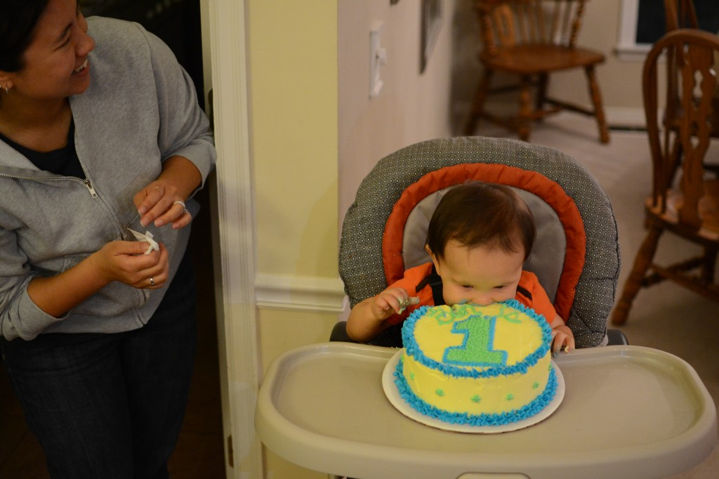 Ben Sure Knows How To Party For His First Birthday Cracker And Cheese